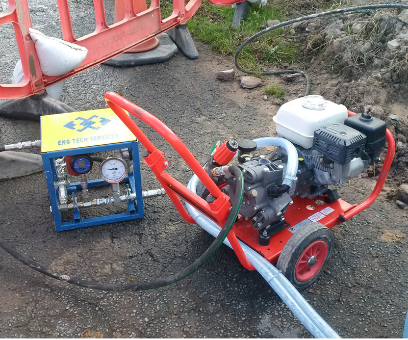 Water Main Pressure Testing to Irish Water Requirements